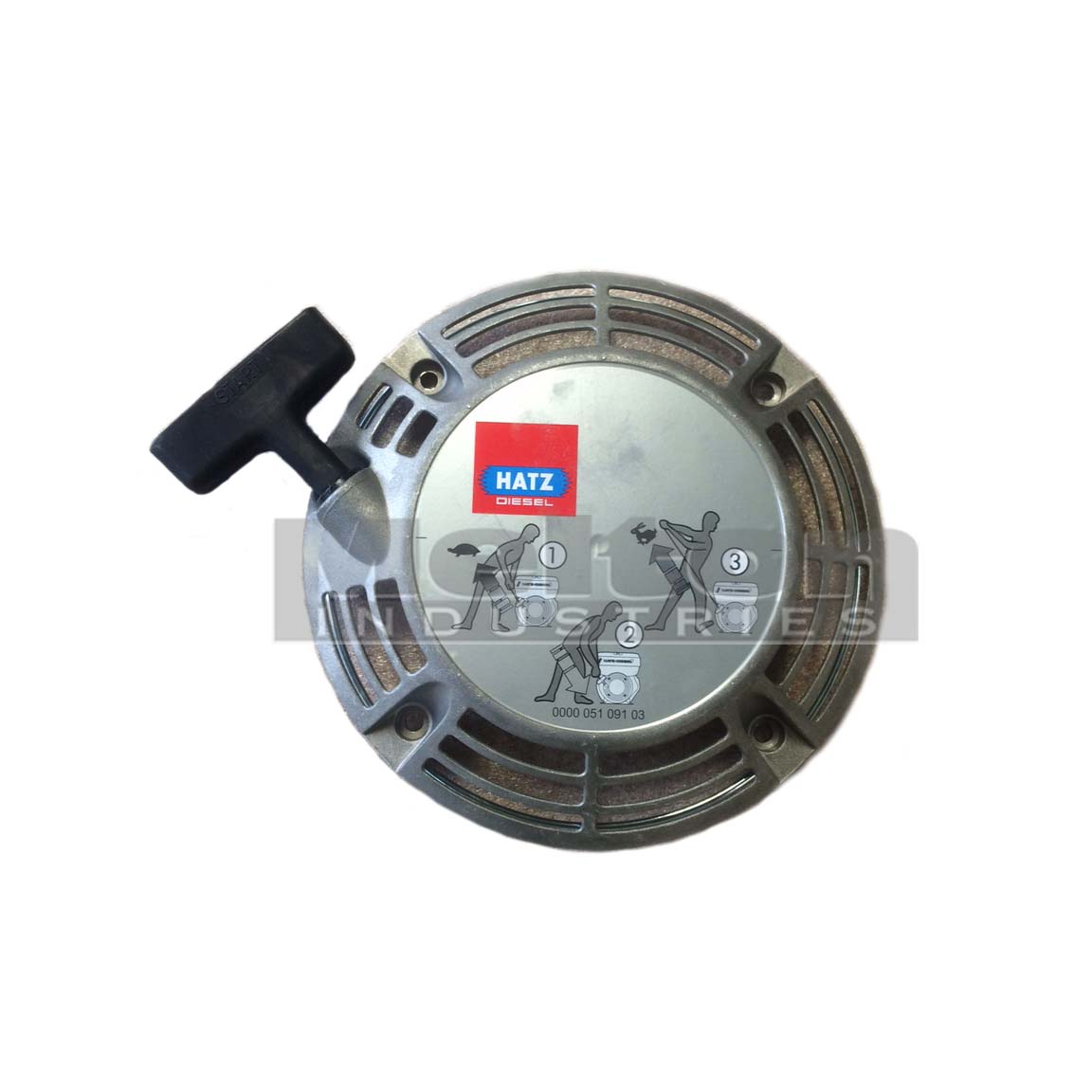 hatz diesel recoil starter assembly 02319100